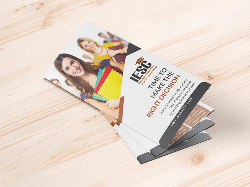Education trifold bruchure brand design corporate design corporate branding vector design print design graphic design branding