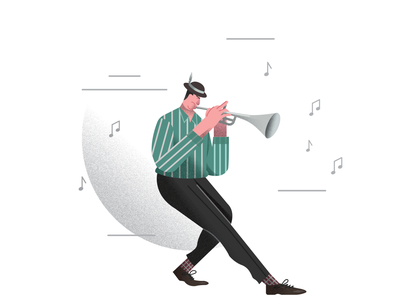 Jazz Trumpet Player jazz festival trumpet illustration jazz school trumpet player jazz concert character design people illustration illustration jazz illustration