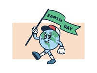A Happy Earth Day Mascot