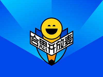 Open Mic microphone smiley badge 插图 icon geometry illustration design branding logo open mic