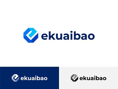 e logo 商标 origami icon letter geometry 品牌 illustration design branding letter e e logo logo