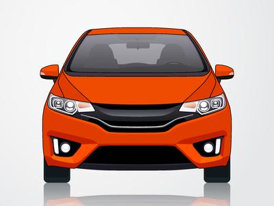 Honda Fit / Honda Jazz Vector Illustration