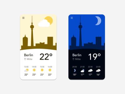 Weather app night day weatherapp weather sketchapp icon vector logo illustration uichallenge appdesign ux dailyuichallenge uidesign design ui dailyui