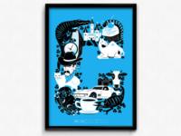 C Is For Cyan (CMYK Poster Series)