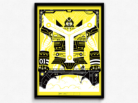 Yellowtron (CMYK Poster Series)