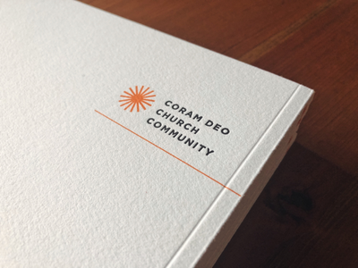 Coram Deo Annual Report (Detail) perfect binding letterpress magazine publication clean minimal photography serif rounded corners offset print