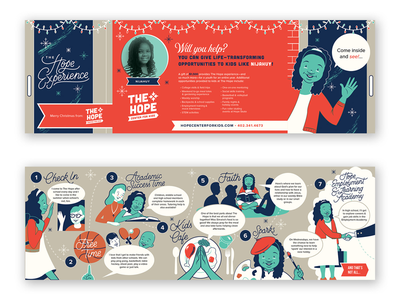The Hope Experience - Christmas Giving Mailer (Full) lettering faith print mailer giving non profit omaha experience hope kids