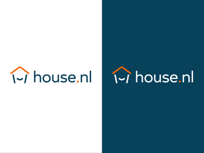 House.nl logo pairings brand identity house logo house house.nl simple type white icon branding minimal logo