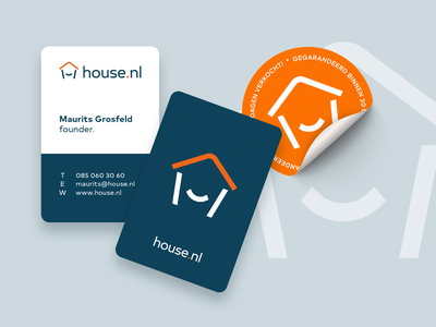 House.nl Contact Cards & Stickers contact cards sticker real estate logo designs brand identity logo design branding