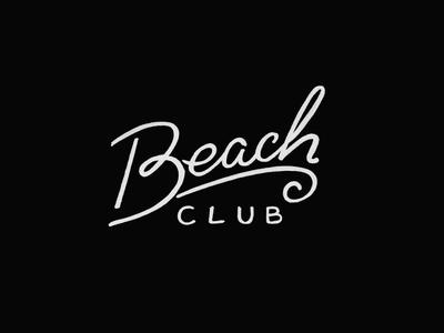 Beach Club Lettering