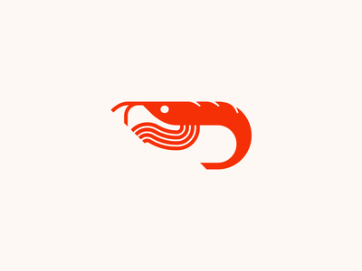 Krill Logo shrimp sea creature creature whiskers red small brand identity identity branding nlnet labs logo animal sea fish krill