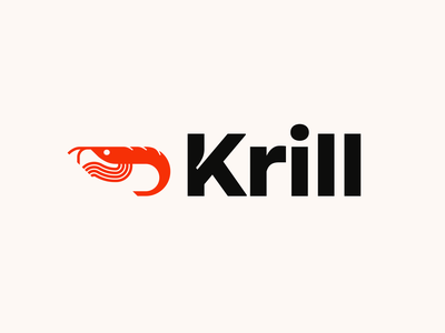 Krill Logo & Wordmark nlnet labs animal fish logo minimal modern wordmarks k wordmark shrimp water sea creature sea creature krill