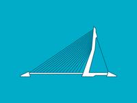 Rotterdam landmarks: Erasmusbrug