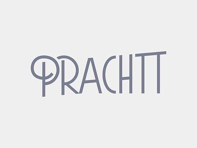 Prachtt branding illustration handlettering condensed retro avantgarde type lettering font architecture prachtt