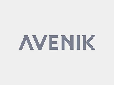 Avenik Wordmark modern futuristic font typography wordmark lettering simple type logo minimal branding