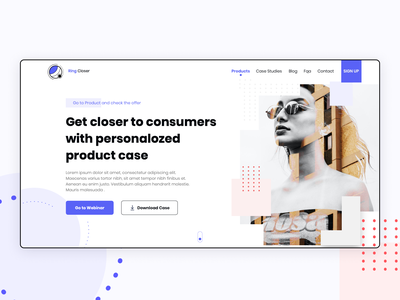 Hero Section for Landing Page landing page design landingpage typography logo user experience uidesign dribbble userexperiance product ux ui design