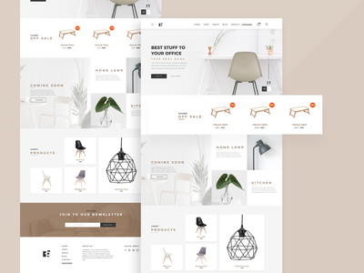 [Concept] Furniture Shop feature website concept dribbble navigation graphic design lamp adobe user experience product ui userexperiance design ux furniture