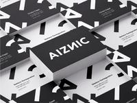 AIZNIC Brand Identity typography logotype design art direction marketing collateral branding makgrafix logo brand identity graphic  design