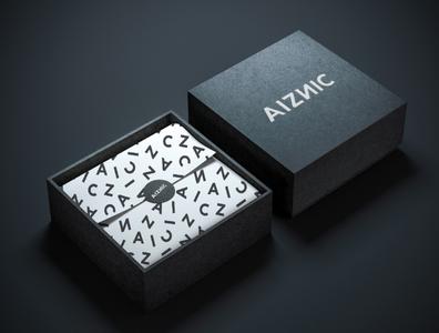 AIZNIC Brand Identity creative design fashion typography logo marketing collateral art direction packaging branding brand identity graphic  design makgrafix