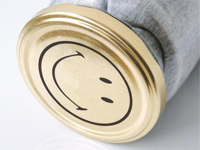 Happiness in a Jar environment fashion apparel greytshirt tshirt glassjar packaging graphictee branding brandidentity graphicdesign happiesttshirt positive smiley makgrafix
