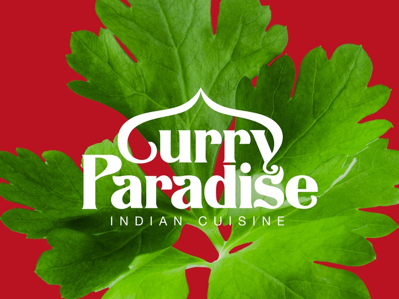 Curry Paradise indian restaurant posters graphic layout business card packaging typography editorial design branding art direction logotype marketing collateral graphic  design logo brand identity makgrafix