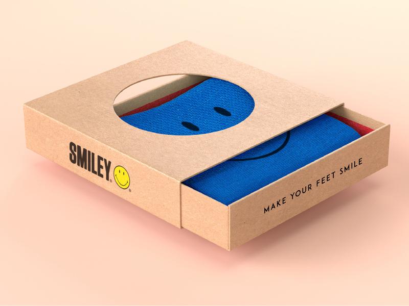 Smiley Socks Concept happy apperal socks smiley packaging fashion art direction design branding marketing collateral makgrafix brand identity graphic  design