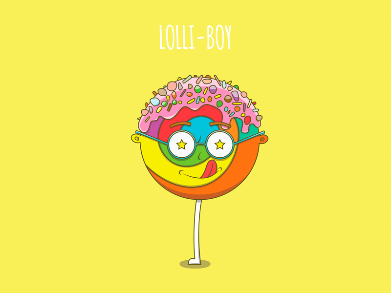 Lolli Boy poster design poster funny vector adobe illustrator drawing character food colors foodies character design food illustration illustrator kids illustration illustration