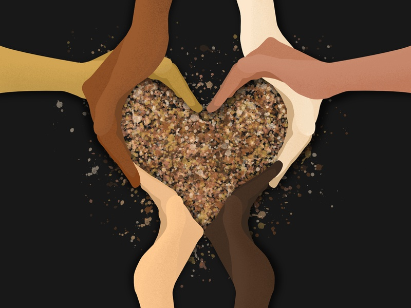 Black Lives Matter 🖤 hands love community strong unity together blacklivesmatter illustration design