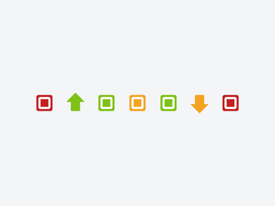 Server State Flows cloud servers colors icon rightscale