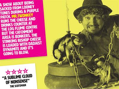 Twonkey's Stinking Bishop festival fringe edinburgh surreal comedy poster gig twonkey