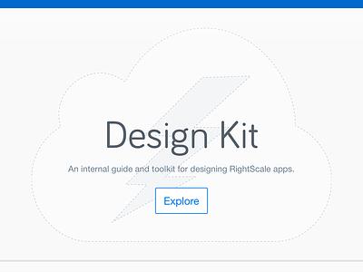 Design Kit Landing Page cloud bolt lightening rightscale styleguide design landing page