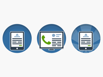 In-App Product Icons suite phone tablet call product icons