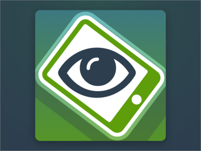 Reader App Icon - Squinty illuminati gradients ios icon app