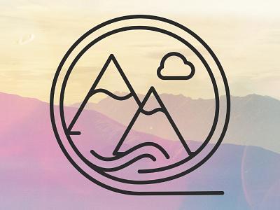 Hide in the Sky Mark minimalism food design logo yoga