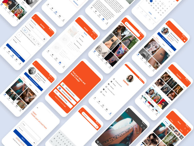 Tattoo app ux ui app design