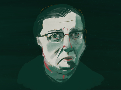 Sartre sketch digital illustration sartre illustration adobe fresco fresco