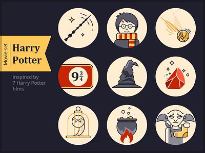 Harry Potter icon set free freebie icons potter harry