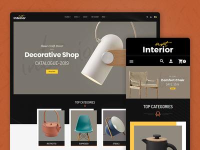 Interior Art & Home Decor – Prestashop Responsive Theme design style fashion responsive ecommerce shopify woocommerce prestashop wordpress opencart templatetrip