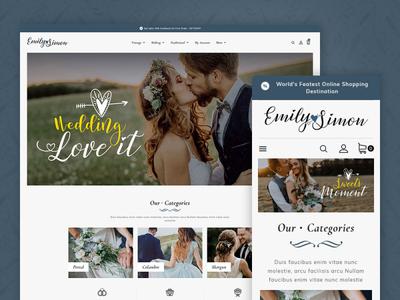 Couple Wedding Gift Shop – Prestashop Responsive Theme sweet moment love weeding responsive ecommerce shopify woocommerce prestashop wordpress opencart templatetrip
