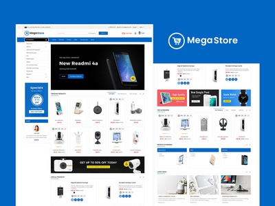 Mega Store Electronics Mart – Prestashop Responsive Theme spiker camera electric design responsive ecommerce shopify woocommerce prestashop wordpress opencart templatetrip