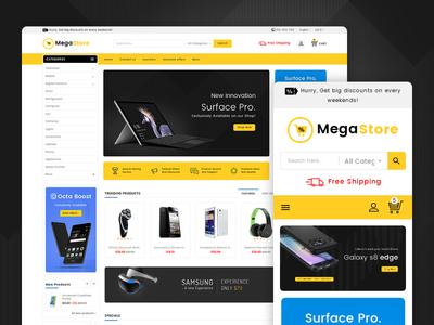 Mega Store Electronics – Prestashop Responsive Theme spikers phone design fashion responsive ecommerce shopify woocommerce prestashop wordpress opencart templatetrip