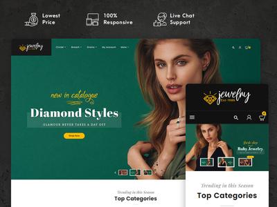 Jewelry – Imitation & Catalog – Prestashop Responsive Theme art design style fashion responsive ecommerce shopify woocommerce prestashop wordpress opencart templatetrip