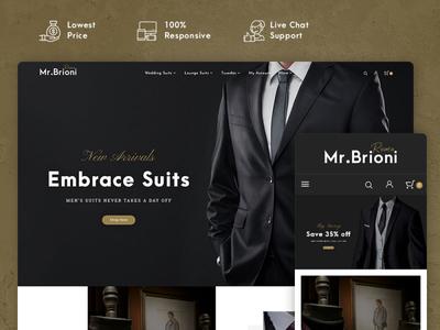 Brioni – Suit & Tailoring – Prestashop Responsive Theme design style fashion responsive ecommerce shopify woocommerce prestashop wordpress opencart templatetrip