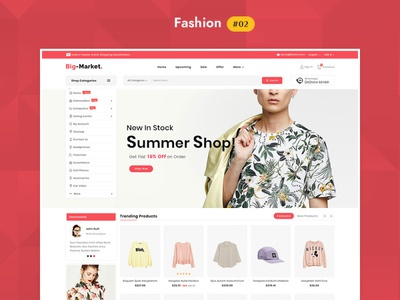 Big Market Fashion - eCommerce Multi-purpose Website Design