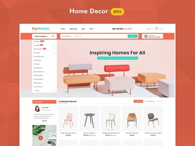 Big Market Furniture Home Decor - eCommerce Multipurpose Website