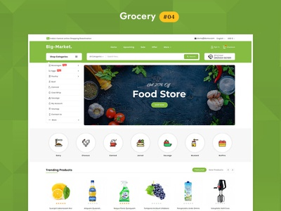 Big Market Organics Grocery - eCommerce Multi-purpose Web Design