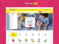 Big Market Kid Toys - eCommerce Multi-purpose Website Design