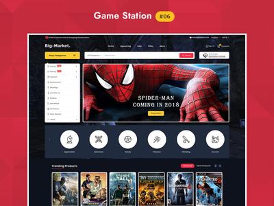 Big Market Game - eCommerce Multi-purpose Website Design