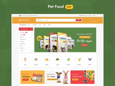 Big Market Pet Food - eCommerce Multi-purpose Website Design