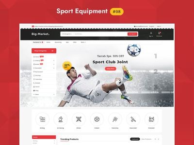 Big Market Sports - eCommerce Multi-purpose Website Design